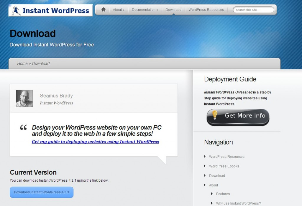 01 Instant WordPress  download
