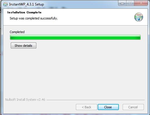 05 installing instant wordpress