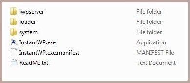 07 files of instant wordpress