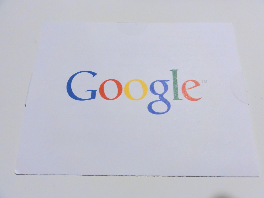 Google AdSense PIN letter front view