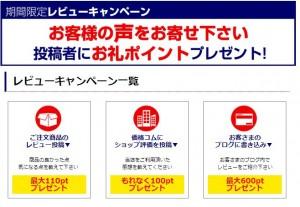 screen shot of nojima point campaign