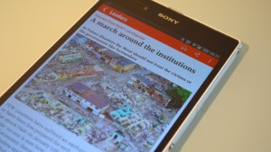 Android app of the economist